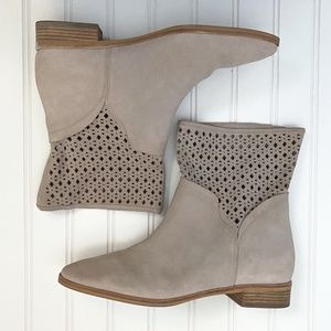 Michael Kors Cement Suede Sunny Perforated Boots